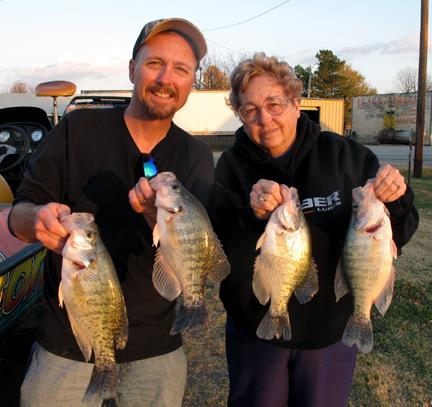 me and mom with crappie