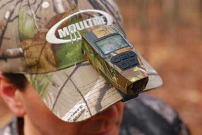 Moultrie's ReAction Cam is lightweight and easily mounts to your hat with the included hat clip