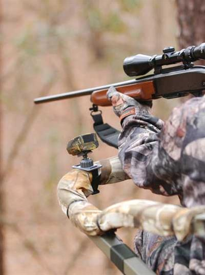 Record the action right from your tree stand with Moultrie's ReAction Cam high definition video camera
