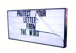 "Wind Protector / Letter Guard for 40"" x 96"" Portable Signs"