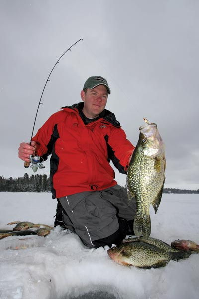 Best crappie lures for ice fishing for Best fishing in wisconsin