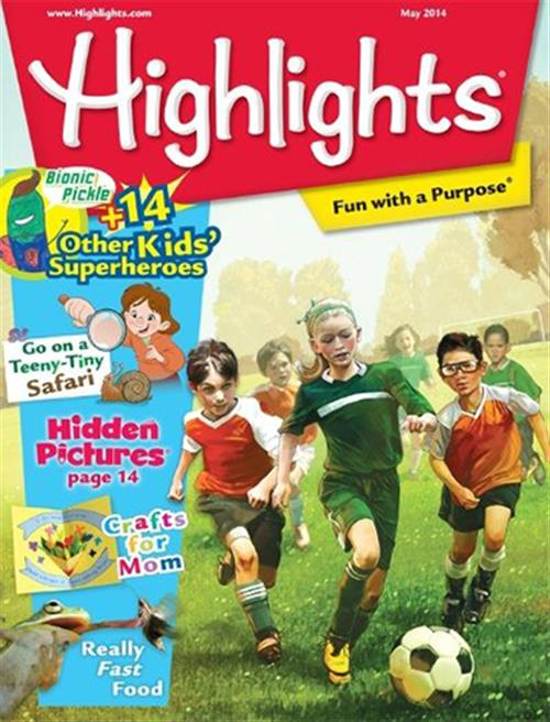Highlights Magazine is great for kids ages 3-8